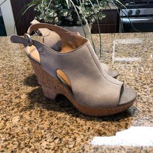Franco Sarto cork heeled platforms
